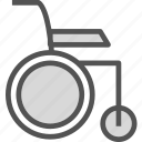 chair, imobilized, invalid, wheel icon