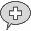 crosschat, health, medical icon