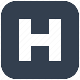 button, healthcare, hospital, medical, sign, square icon