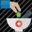 herbal medicine, medicine bowl, mortar and pestle, pharmacist, pharmacy tool icon