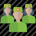 doctors, medical assistant, medical staff, nurses, nursing staff icon