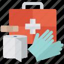 emergency medication, first aid kit, medical aid, medical emergency, medicine case icon