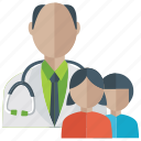 family consultant, health care, medical care, medical check up, medical examination icon