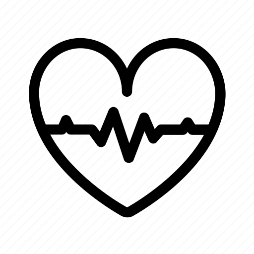 analyse, collection, health, heart, line, scan icon