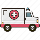 ambulance, care, emergency, health, hospital icon