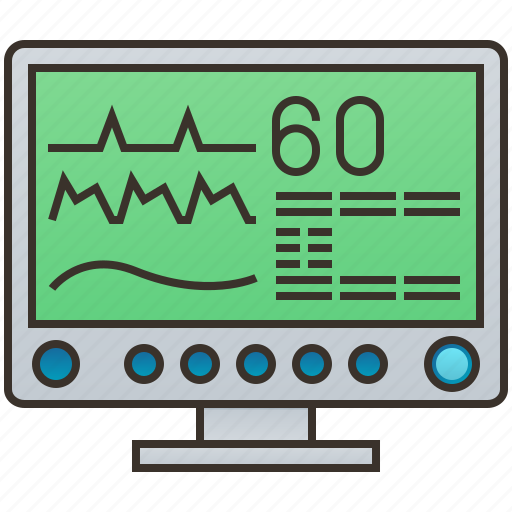 heart, medical, monitor, pulse, rate icon