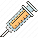 dose, injection, medical, syringe, vaccine icon