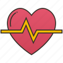 beat, heart, medical, pulse, rate icon