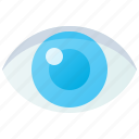 eye, eyeball, optical, organ, vision icon