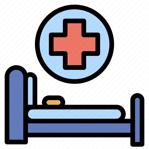 bed, clinic, furniture, healthcare, hospital, household, medical icon
