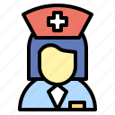 assistance, healthcare, medical, nurse, woman icon