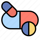 and, capsule, drug, healthcare, medical, medicines, pill icon