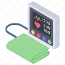 bp apparatus, bp cuff, bp machine, bp meter, bp monitor, bp operator, sphygmomanometer icon