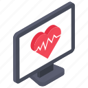 cardiogram, electrocardiogram, heart care, heart health, palpitation icon