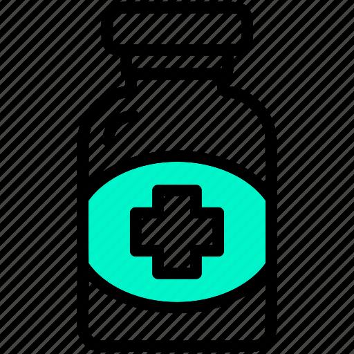 bottle, drugs, healthcare, medical, medicine, treatment icon