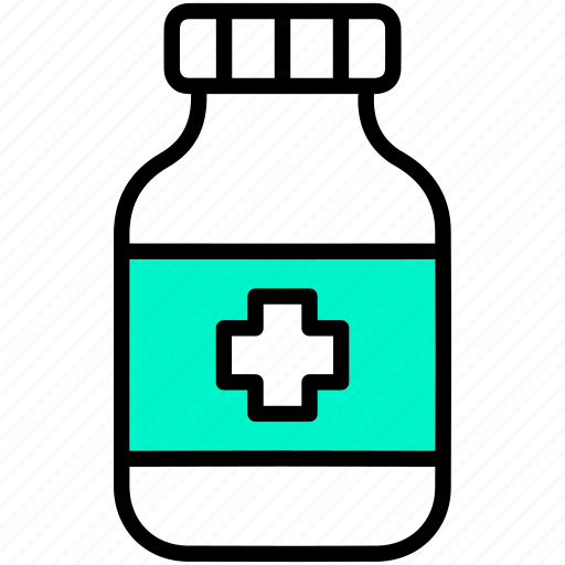 bottle, drugs, healthcare, medical, medicine, treatment icon