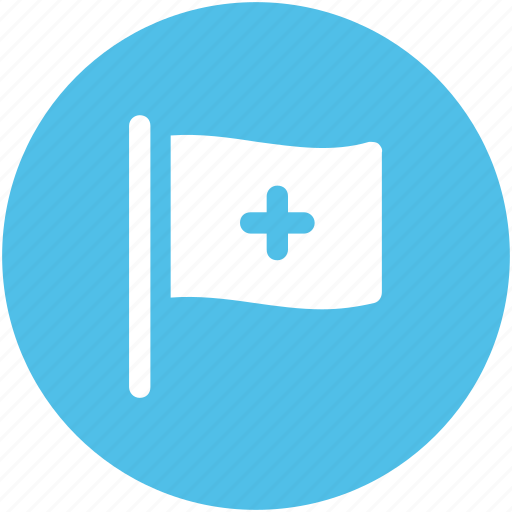 flag, healthcare, hospital flag, medical flag, medical services icon