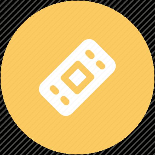 adhesive bandage, band aid, bandage, first aid, plaster, plaster band icon