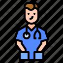 assistant, avatar, nurse, profession