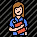avatar, hospital, medical, nurse icon