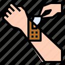 bandage, cross, medical, plaster, tools