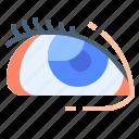 ball, body, eye, part, retina icon