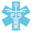 first, medical, aid, life, star icon