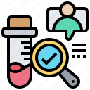 analysis, diagnostic, lab, results, test icon