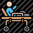hospital, paramedic, patient, stretcher, transport