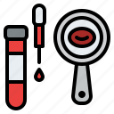 blood, lab, research, test icon