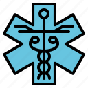 aid, first, life, medical, star