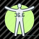 body temperature, health, human, immunity, person, shield icon
