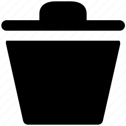 bin, delete, dustbin, remove, trash, trashcan icon