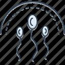 egg, fallopian, fertility, fertilizers, sperm, sperm egg icon