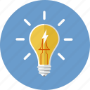 bulb, creativity, electricity, energy, inspiration, lightbulb icon