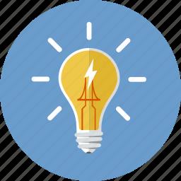 bulb, creativity, electricity, energy, inspiration, lightbulb icon