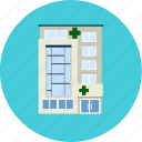 building, health, healthy, help, hospital, laboratory, medical icon