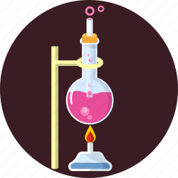 biotechnology, fire, flask, glassware, laboratory, research, science icon