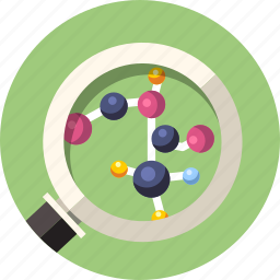 atom, connection, formula, molecular, particle, research, science icon