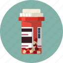 addiction, box, capsule, drug, medical, pill, treatment icon