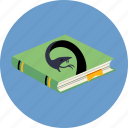 book, esoteric, medicine, mystical, reptile, science, snake icon