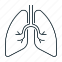 lungs, organ icon