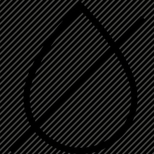 crosset, drop, droplet, not icon