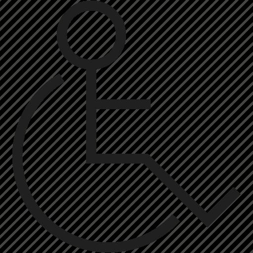 avatar, chair, mark, wheel icon