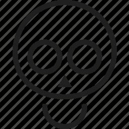 avatar, face, figure, head, skeleton icon