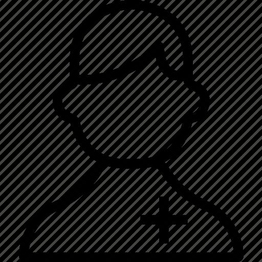 avatar, face, figure, male, man, nurse icon