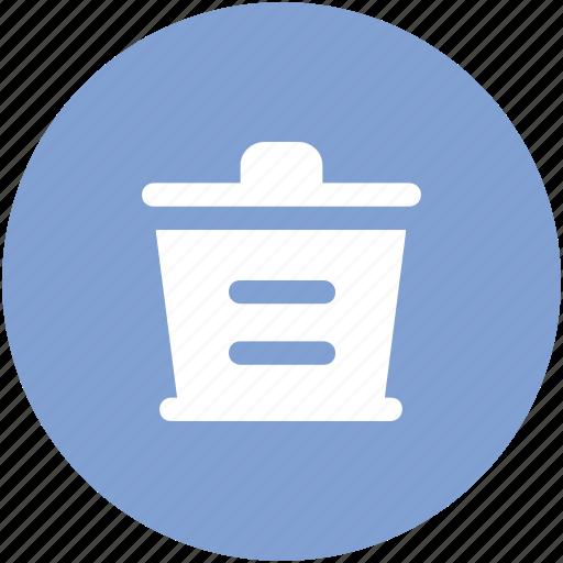 bin, delete, dustbin, remove, trash, trashcan icon
