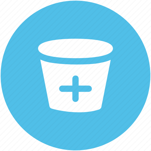 ice bucket, medical bucket, medical pail, sandbox, water bucket icon