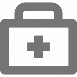 case, emergency, first aid kit, medicine, suitcase icon
