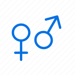 difference, femal, gender, male, sex, sign icon